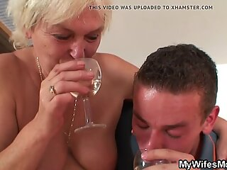 Her very old mom and boyfriend taboo sex