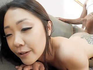 Tattooed Saya Song gets assfucked from behind