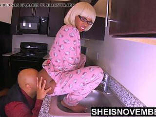 Ebony Nerd Msnovember SweetAss Ate By Her Moms Husband XXX