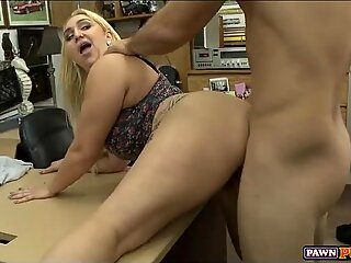 Blonde Whore gets Fucked in the Back Room