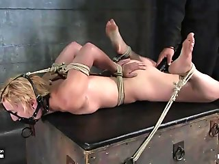Dylan bound in tight bondage & suspended