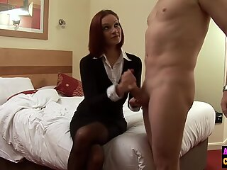 hot babe jerks cock in hotel back room bisexual femdom porn movie