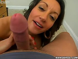 Busty mature exotic bitch Persia blows and fucks on POV video