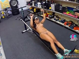 Big ass brunette mom Muscular Chick Spreads Eagle For Cash!