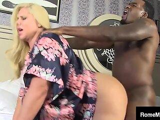 Mature Mother Karen Fisher Wrecked By Big Black Bull Rome Major!
