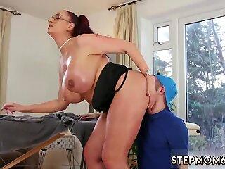 French mature milf anal xxx Big Tit Step-Mom Gets a Massage - Emma Butt