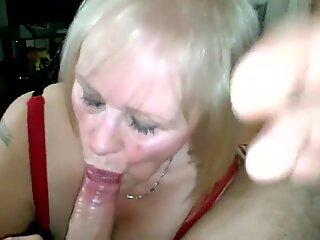 ultra-cute grandma nice oral job