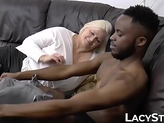 multiracial drilling of a brit granny with sexy curves
