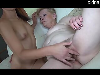 grandmother and youthful alone at home