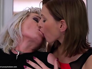 grandmother mommy daughter impressive lesbian threesome