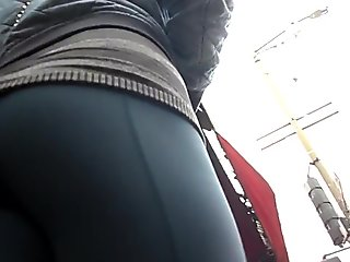 BootyCruise: Blue Leggings Up-Ass Cam 2