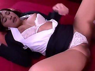 Pleasing Japanese Emi Asano attending in cum shot porn video