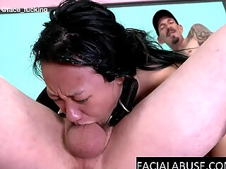Anal and throat fuck for a puke fountain