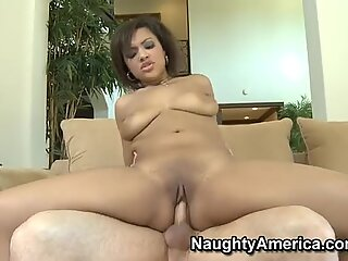 Fat ass Catalina Taylor riding cock and giving blowjob till she gets a big load on her tits.