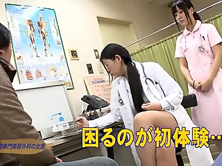 japanese nurse handjob & blowjob