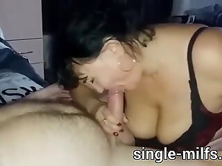 Blowjob by two eager and ugly fat MILF Sluts! CUM IN FACE