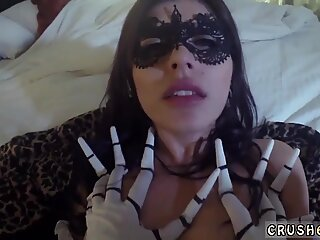 Teen couple caught by milf and back scratching sex xxx Swalloween Fun