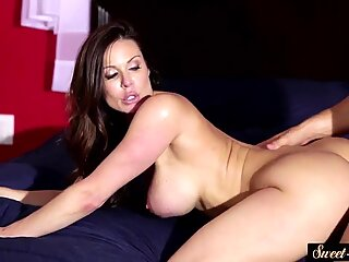 Busty MILF doggystyled and cum squirted