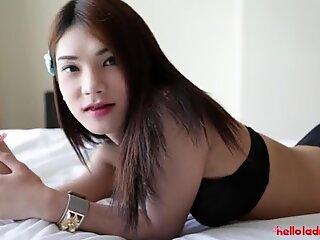 HELLOLADYBOY Skinny Asian Ladyboy Is Obsessed With Tourist Cock