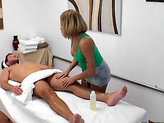 Mena Li  Jake Clark in Mena The Marvellous Masseuse - HappyTugs