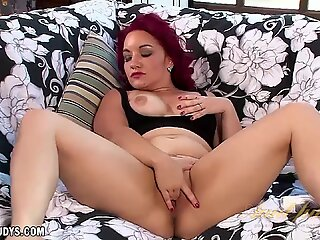 Megyn Mason shows her hot toy play