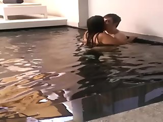 CummingCouple4u - [Uncensored] Thai wife wants English cock in the pool