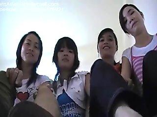Asian girls feet pov