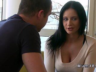Mature lady bangs husbands bro