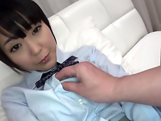 Horny Japanese girl in Crazy Teens, POV JAV clip