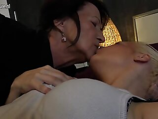 Hot daughter seduced by naughty lesbian granny