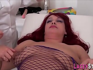 Blonde old bitch with big tits fucked