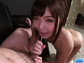 Petite Teen Megumi Shino Sucks Cock In POV - More at javhd net